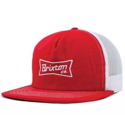 Brixton Pearson Mesh Hat Cap Red/White キャップ 送料無料