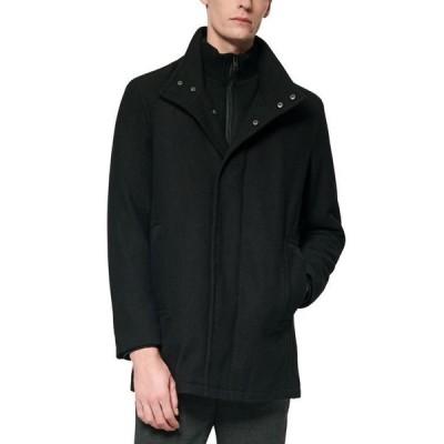 マークニューヨーク メンズ ジャケット・ブルゾン アウター Men's Coyle Melton Wool Car Coat with Inset Knit Bib