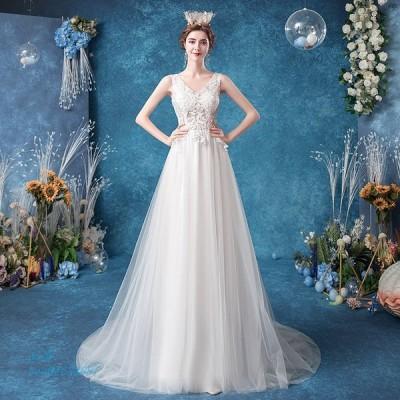 ウェディングドレス aラインドレス 安い ウエディングドレス 二次会 カップ 透かし感 花嫁 結婚式 シースルーレース パーティードレス ブライダル 披露宴