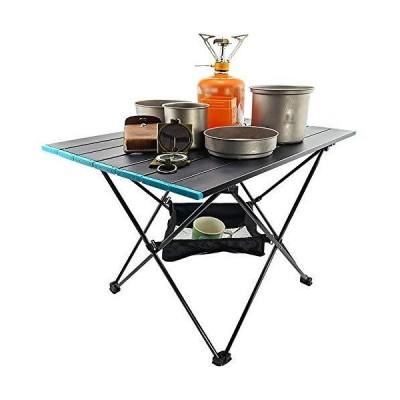 全国送料無料!FGF GFRYY Portable Folding Camping Table, Ultralight Aluminum Camp Side Table with Mesh Storage Bag & Carry Bag for Out