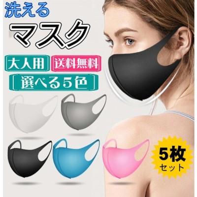 洗えるマスク 5枚入り 立体 マスク 花粉症予防 クリックポスト送料無料 2020春 夏用マスク新作 防寒 防塵 風邪 花粉 黄砂用 大人用