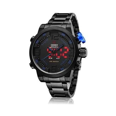 スポーツ 腕時計 デジタル LED 大顔 防水 軍事 ストップウォッチ SIBOSUN メンズ 日本のクォーツ アラーム