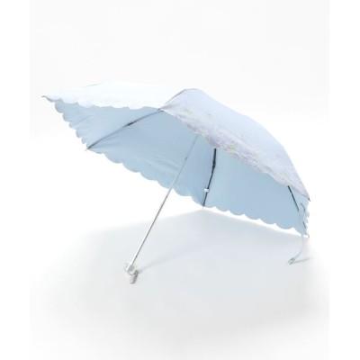MOONBAT / 晴雨兼用折りたたみ日傘 シャンブレー WOMEN ファッション雑貨 > 折りたたみ傘