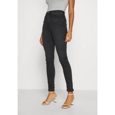 リーバイス レディース デニムパンツ ボトムス MILE HIGH SUPER SKINNY - Jeans Skinny Fit - black haze black haze