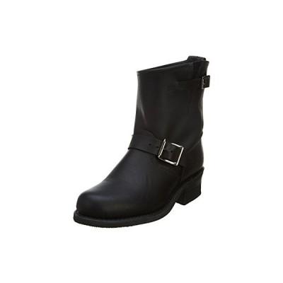 FRYE レディース Engineer 8R Ankle ブーツ, ブラック Greasy, 7 M US(海外取寄せ品)