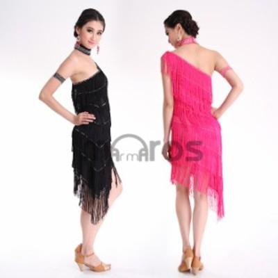 ラテンダンス 衣装 ワンピース コスチューム 6色 rt0009