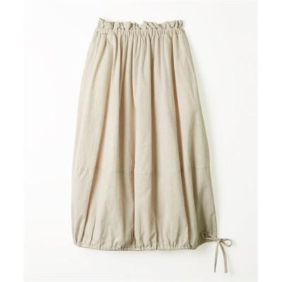 【20春夏】裾リボンで2WAY ウエストフリルバルーンフレアスカート (ロング丈・マキシ丈スカート)Skirts