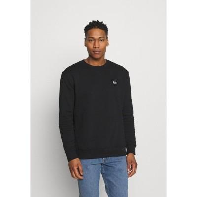 リー パーカー・スウェットシャツ メンズ アウター PLAIN CREW - Sweatshirt - black