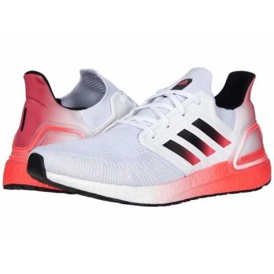 アディダス スニーカー シューズ メンズ Ultraboost 20 Footwear White/Core Black/Signal Pink