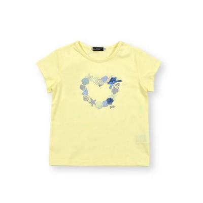 BeBe/べべ シェル プリント ハート グリッター 半袖 Tシャツ (90〜140cm) イエロー 110cm