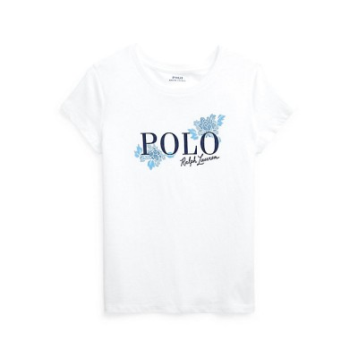 <POLO RALPH LAUREN CHILDREN (BOYS&GIRLS)/ポロ ラルフローレン チルドレン(ボーイズ&ガールズ)> ロゴ コットン ジャージー Tシャツ 100ホワイト【三越伊勢丹/公式】