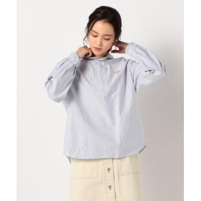 【フレディアンドグロスター】 OX SHIRT ロングスリーブシャツ(柄) #JD−3564TRD レディース ネイビー系3 36 FREDY&GLOSTER