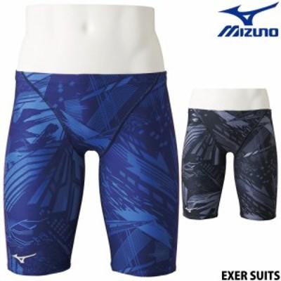 【まとめ買いクーポン配布中】ミズノ MIZUNO 競泳水着 メンズ 練習用 ハーフスパッツ EXER SUITS U-Fit 競泳練習水着 ダイバーシティコン
