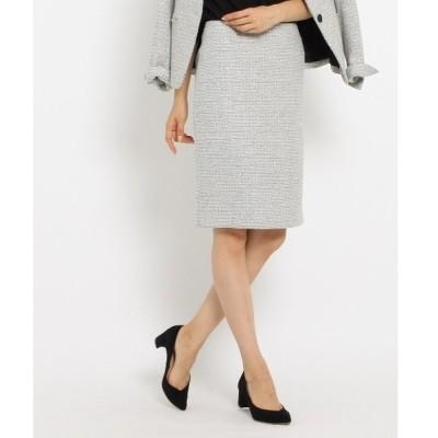 ◆[S]ループツィードストレートタイトスカート