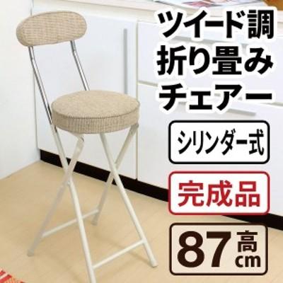 ハイチェア 折りたたみ椅子 折りたたみチェア カウンターチェア 座面高さ 60cm PFC-40F 送料無料 弘益
