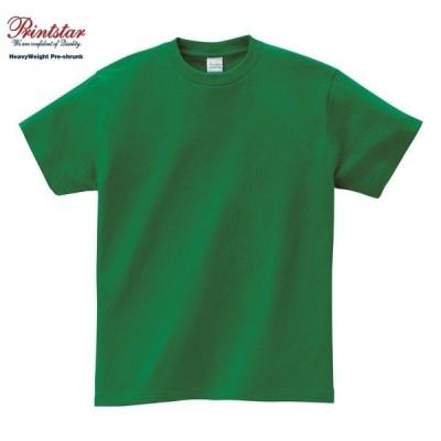 Printstar/プリントスター 00085 ヘビーウェイト Tシャツ025:グリーン 100〜160cm S M L XL