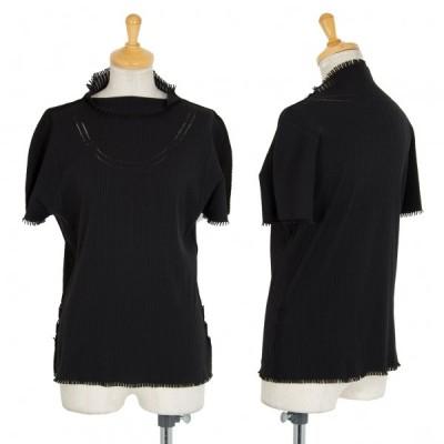 プリーツプリーズエーポックPLEATS PLEASE A-POC フリンジカットリブTシャツ 黒3 【レディース】