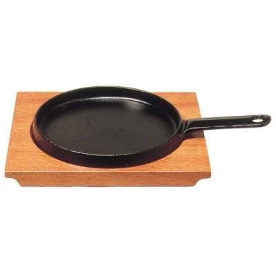 (業務用・鉄板プレート)トキワ ステーキ皿 柄付浅型 小 18cm 324(入数:1)