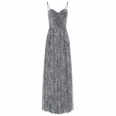 ロサリオ RASARIO レディース パーティードレス ワンピース・ドレス Leopard-print crepe dress Grey