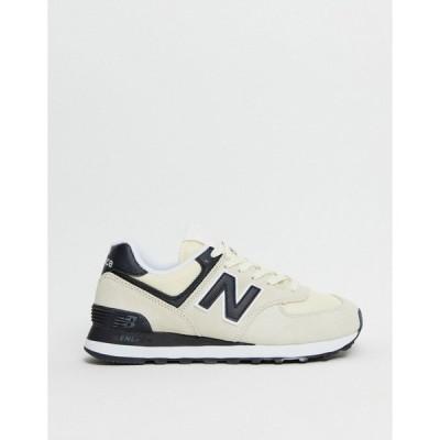 ニューバランス レディース スニーカー シューズ New Balance 574 sneakers in cream and black Cream