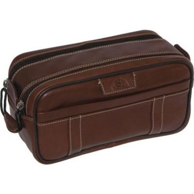 ドップ Dopp レディース ポーチ Country Saddle Soft Sided Multi-Zip Travel Kit Brown