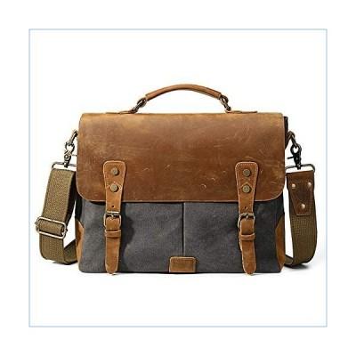 HDKD Business Bag Men's Vintage Canvas Handbag Shoulder Messenger Bag Business Briefcase for Men Men's A4 Business Tote Bags (Color : Green, Size : Fr