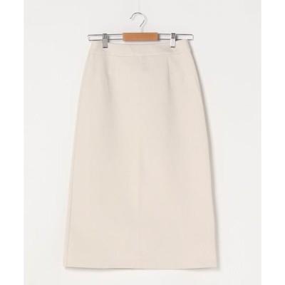 スカート スムースタッチバックジップスカート