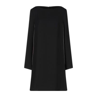 1-ONE ミニワンピース&ドレス ブラック 46 ポリエステル 100% ミニワンピース&ドレス