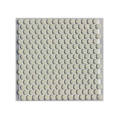 19ミリ丸モザイクタイル クリーム 53
