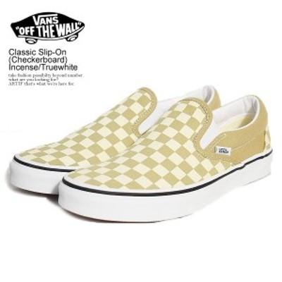 VANS バンズ Classic Slip-On (Checkerboard) Incense/Truewhite メンズ スリッポン スニーカー ストリート 正規品・正規取扱店 atfacc