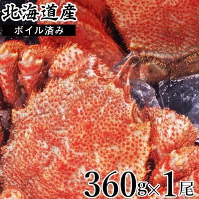 カニ ギフト 北海道産 毛ガニ 1尾 360g×1尾(ボイル済み) / 毛蟹 毛ガニ 詰め合わせ 姿 蟹姿 茹で ボイル済み 冷凍