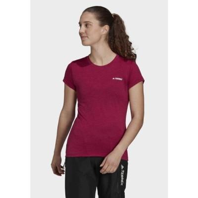 アディダス レディース スポーツ用品 TIVID - Basic T-shirt - burgundy