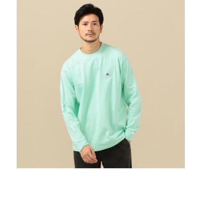【SHIPS別注】KELTY: ワンポイント ネイビーロゴ ロングスリーブ Tシャツ (ロンT)