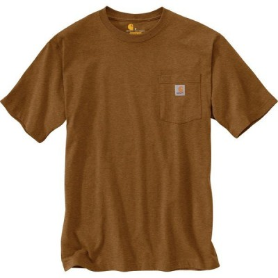 カーハート シャツ トップス メンズ Carhartt Men's K87 Short Sleeve Workwear Pocket T-shirt Brown Dark 03