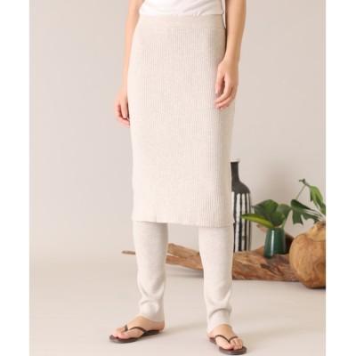 【スーペリアクローゼット/SUPERIOR CLOSET】 《YVON》レイヤードニットスカート