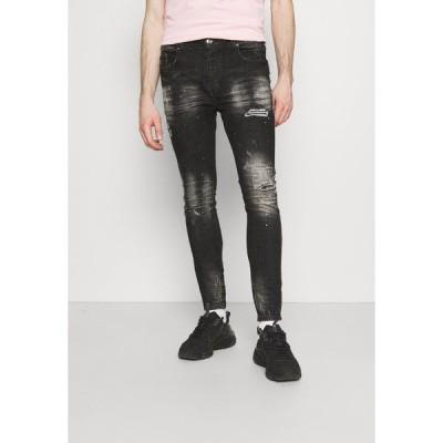 キングズ ウィル ドリーム デニムパンツ メンズ ボトムス OVERTON SUPERSLIM JEAN - Jeans Skinny Fit - washed black