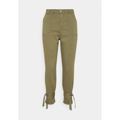 シンプリービー レディース デニムパンツ ボトムス TIE TROUSERS - Jeans Tapered Fit - khaki khaki