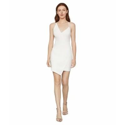 ビーシービージーマックスアズリア レディース ワンピース トップス Asymmetrical Hem Cocktail Dress Off-White