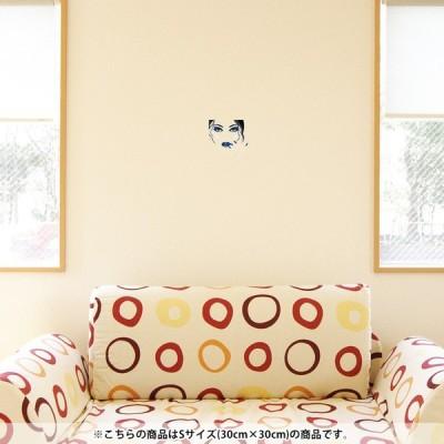 ウォールステッカー 飾り 30×30cm シール式 装飾 おしゃれ 壁紙 はがせる 剥がせる カッティングシート wall sticke  イラスト 人物 青 ブルー 008042