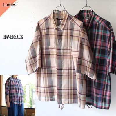 HAVERSACK ハバーサック 622016 コットンボイルチェックシャツ