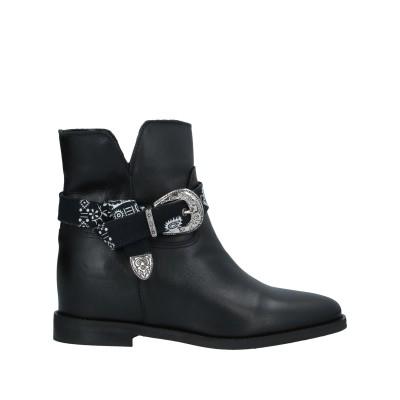 OVYE' by CRISTINA LUCCHI ショートブーツ ブラック 36 牛革(カーフ) / 紡績繊維 ショートブーツ