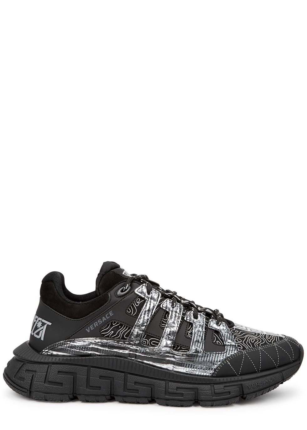 Trigreca printed panelled sneakers
