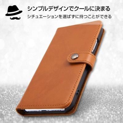 レイ・アウト iPhone X ケース 手帳型 本革 スナップボタン/ブラック RT-P16RLC2/B