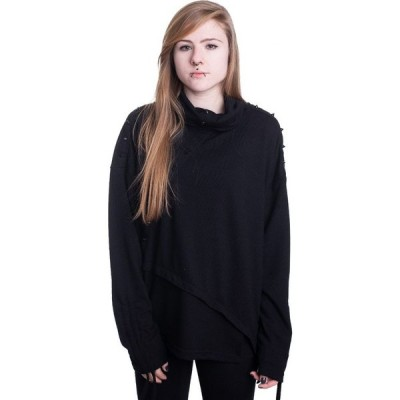 ポイズン インダストリー Poizen Industries レディース スウェット・トレーナー トップス - Cleo - Sweater black