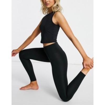 エイソス レディース レギンス ボトムス ASOS 4505 Hourglass leggings with sculpting deep waist band Black