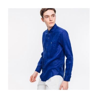 【ラコステ】 リネンボタンダウンシャツ メンズ グレー 39(日本サイズM) LACOSTE
