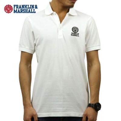 フランクリン マーシャル ポロシャツ 正規販売店 FRANKLIN&MARSHALL 半袖ポロシャツ  POLO SHIRT WHITE POMF130AN 4061 0391 父の日 ギ