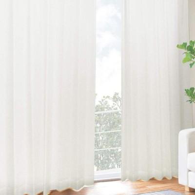 [カーテンくれない] UVカット率【99.3%】の二重レースカーテン 二枚仕立て しっかりとした厚みで 断熱 遮熱効果大 紫外線カット率99.3%
