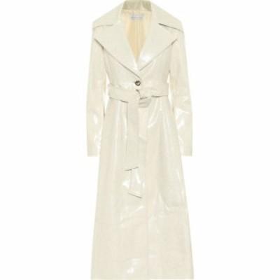 レジーナ ピヨ Rejina Pyo レディース トレンチコート アウター Rhea laminated wool trench coat Ivory Fleck