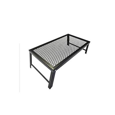 SWAG GEAR メッシュテーブル スチールテーブル 焚き火テーブル 折りたたみ 軽量 携帯便利 アウトドア用(横穴)